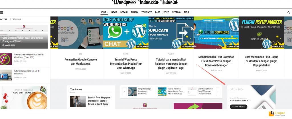 Menempatkan google adsense di wordpress